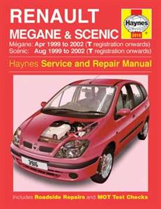 Renault Megane & Scenic 1999-02 Repair Manual 1.4 1.6 2.0 Petrol And 1.9 Diesels