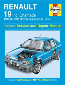 Renault 19 1989-96 Repair Manual Petrol