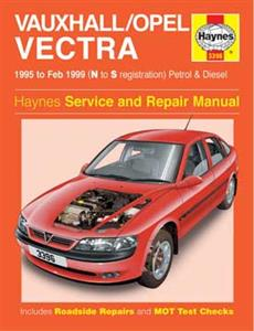 Vauxhall/Opel Vectra (NZ Holden Vectra) 1995-99 Repair Manual Petrol And Diesel (Not V6)