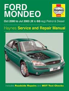 Ford Mondeo 2000-03 Repair Manual Petrol & Diesel NOT ST220