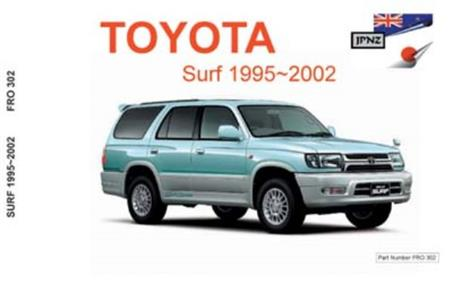 Toyota Surf 1994-2002 Translated Owner's Handbook