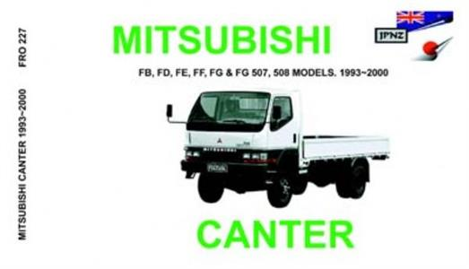 MITSUBISHI Canter 1993-2000 Translated Owner's Handbook