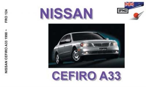 Nissan Cefiro 1998-2003 Translated Owner's Handbook