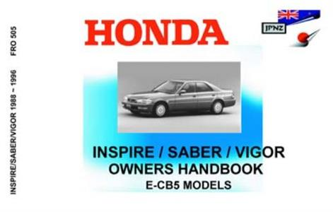 Honda Inspire/Saber/Vigor 1992-96 Translated Owner's Handbook