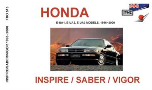 Honda Inspire/Vigor/Saber 1996-00 Translated Owner's Handbook