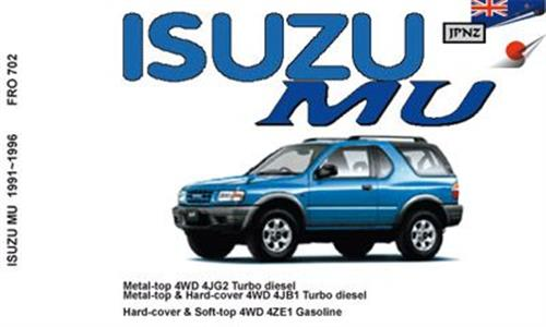Isuzu MU 1991-96 Translated Owner's Handbook