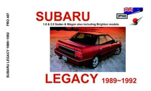 Subaru Legacy 1989-92 Translated Owner's Handbook