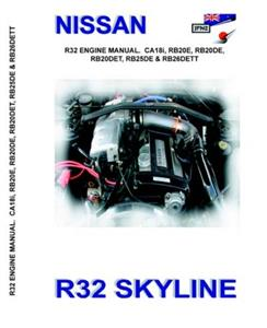 Nissan Skyline R32 Factory Engine Manual Reprint Petrol Only 2 Volume Set