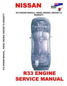 Nissan Skyline R33 Factory Engine Manual Reprint
