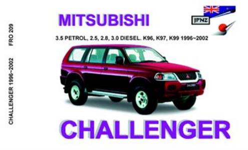 Mitsubishi Challenger 1996-2002 Translated Owner's Handbook