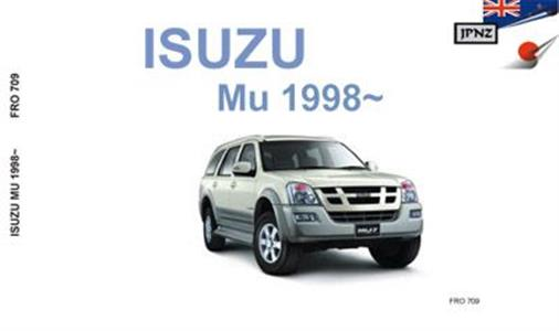 Isuzu MU 1998-2004 Translated Owner's Handbook