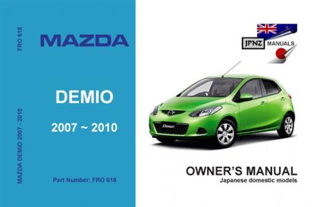 Mazda Demio 2007-14 Translated Owner's Handbook