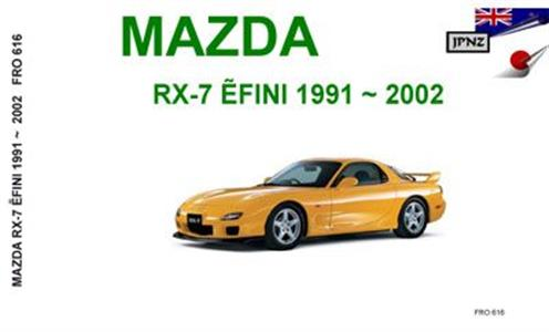 Mazda RX-7 1991-2002 Translated Owner's Handbook