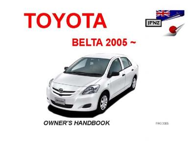 TOYOTA Belta 2005- Translated Owner's Handbook
