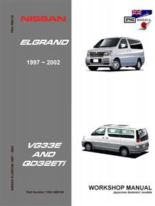 Nissan Elgrand 1997-2001 Translated Workshop Manual - Models With VG33E Or QD32ETI Engines