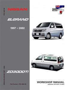 Nissan Elgrand 1997-2001 Translated Workshop Manual - Models With ZD30DDTi Engine