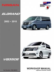 Nissan Elgrand 2002-2010 Translated Workshop Manual - Models With VQ35DE Engine