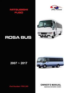Mitsubishi Fuso Rosa Bus 2007-2017 Translated Owner's Handbook