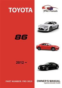 Toyota 86 2012on Translated Owners Handbook