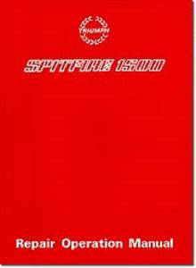 Triumph Spitfire 1500 Factory Repair Manual