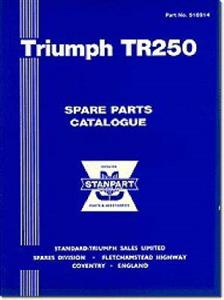 Triumph TR250 Spare Parts Catalogue US Ed