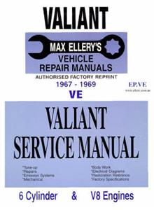Chrysler Valiant VE 1967-69 Shop Manual 6 & 8 Cylinder