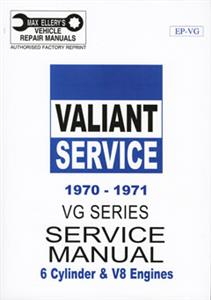 Chrysler Valiant VG 1970-71 Shop Manual 6 & 8 Cylinder OUT OF PRINT