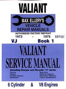 Chrysler Valiant VJ 1973-75 6 & 8 Cylinder Shop Manual Book 1