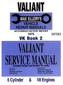Chrysler Valiant VK 1975 6 & 8 Cylinder Shop Manual Book 2