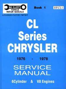Chrysler Valiant CL 1976-78 6 & 8 Cylinder Shop Manual Book 1