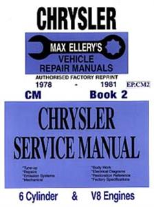 Chrysler Valiant CM 1978-81 6 & 8 Cylinder Shop Manual Book 2