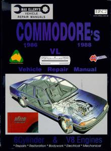 Holden Commodore VL 1986-88 Repair Manual 3.0 6 Cylinder & 5.0 V8