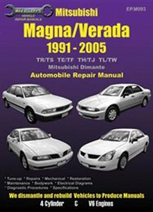 Mitsubishi Magna & Verada 1991-2005 Repair Manual 4 & 6 Cylinder Inc NZ V3000