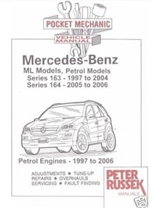 Mercedes Benz ML Petrol 1997-2006 Pocket Mechanic ML 230 320 350 430 And 500