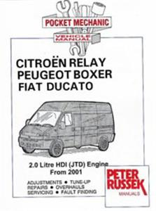 Fiat Ducato Citroen Relay Peugeot Boxer 2001-05 Pocket Workshop Manual 2.0 JTD Diesel