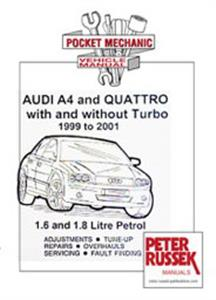 Audi A4 1999-2001 Pocket Repair Manual 1.6 & 1.8 Petrol Incl Turbo & Quattro