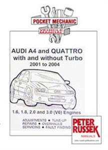 Audi A4 2001-04 Pocket Mechanic 1.6 1.8 2.0 3.0 inc Quattro