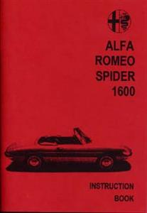 ALFA ROMEO 1600 Spider/Sprint Handbook/Instruction Book
