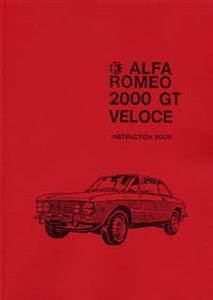 ALFA ROMEO 2000 GTV 105 1971 Handbook/Instruction book