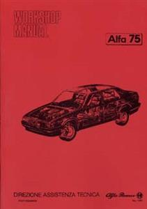 ALFA ROMEO 75 Chassis/Body Shop manual