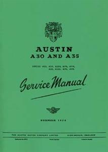 Austin A30 & A35 1954 Shop Manual Reprint