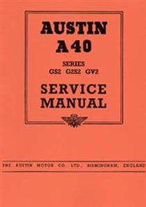 AUSTIN A40 Devon 1949 Service Manual Reprint