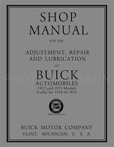 Buick 1918-1924 Repair Shop Manual Reprint - All Models