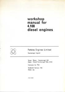 Commer/Perkins 4108D 1969 Shop Manual Reprint