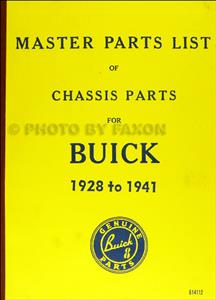 Buick 1928-41 Chassis/Mechanical Parts List Reprint