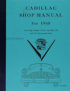 Cadillac 1948 Factory Shop Manual Reprint