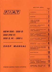 FIAT 500 1965 Shop Manual Reprint