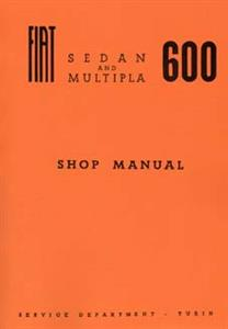 FIAT 600 1968 Shop Manual Reprint