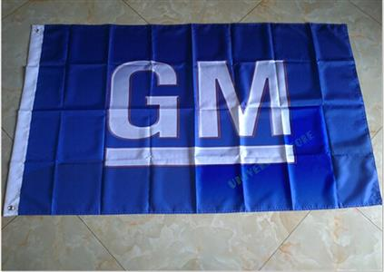 General Motors GM Flag Blue 150x90cm