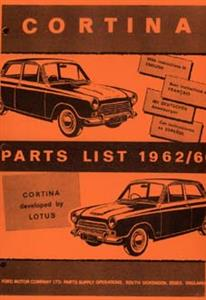 FORD Lotus Cortina 1962-66 Parts Manual Reprint